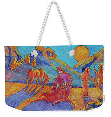 Good Samaritan Parable Painting Bertram Poole Weekender Tote Bag by Thomas Bertram POOLE