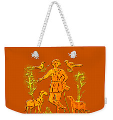 Weekender Tote Bag featuring the digital art Good Shepherd by Asok Mukhopadhyay