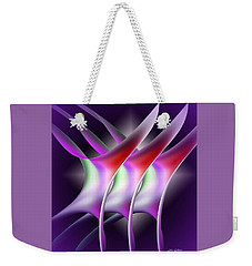 Weekender Tote Bag featuring the digital art Good Vibrations 2 by Iris Gelbart