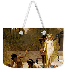 Goodall Frederik The Finding Of Moses Weekender Tote Bag by Frederick Goodall