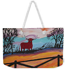 Weekender Tote Bag featuring the painting Goodbye My Lover by Jeffrey Koss