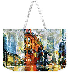 Gooderham Flatiron Building In The Rain Weekender Tote Bag