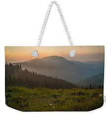 Goodnight Mountains Weekender Tote Bag