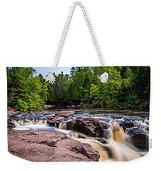 Goose Berry River Rapids Weekender Tote Bag by Paul Freidlund