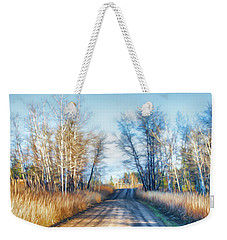 Weekender Tote Bag featuring the photograph Goose Lake Road by Theresa Tahara
