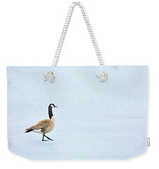 Weekender Tote Bag featuring the photograph Goose Step by Nikolyn McDonald