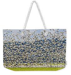 Goose Storm Weekender Tote Bag by Mike Dawson