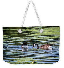 Goose Tipping Weekender Tote Bag by Ray Congrove