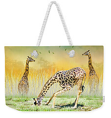 Gopher I Know I Saw A Gorpher Weekender Tote Bag by Diane Schuster