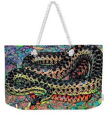 Weekender Tote Bag featuring the photograph Gopher Snake by Pamela Cooper