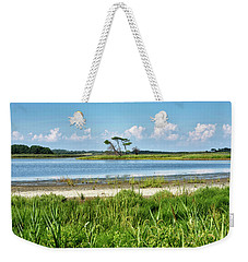 Weekender Tote Bag featuring the photograph Gordons Pond - Cape Henlopen State Park - Delaware by Brendan Reals
