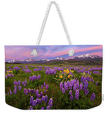 Weekender Tote Bag featuring the photograph Gore Range Sunrise by Aaron Spong