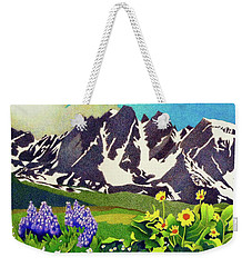 Gore Range Wildflowers Weekender Tote Bag