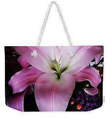Weekender Tote Bag featuring the photograph Gorgeous Flowers. Real. I Think They by Mr Photojimsf