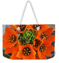 Gorgeous Orange Color Flower Weekender Tote Bag