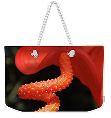 Gorgeous Orange Tropical Flower Blossom Weekender Tote Bag by DejaVu Designs