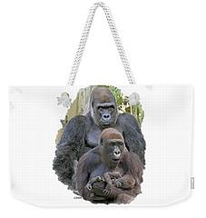 Gorilla Family Portrait Weekender Tote Bag