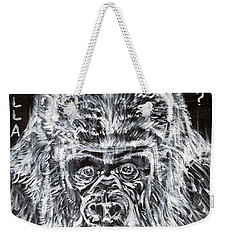 Weekender Tote Bag featuring the painting Gorilla Who? by Fabrizio Cassetta