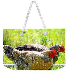 Gossip Girls Weekender Tote Bag by Barbara Dudley