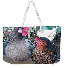 Gossip Girls Weekender Tote Bag by Kim Tran