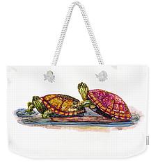 Spring Turtles Weekender Tote Bag