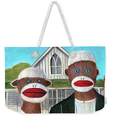 Gothic American Sock Monkeys Weekender Tote Bag