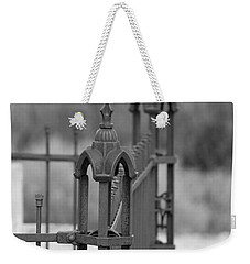 Gothic Ornamental Fence In Boothill Weekender Tote Bag