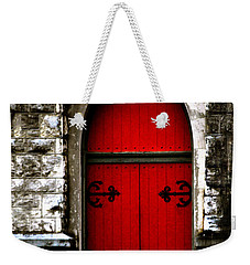Gothic Red Door Memphis Church Weekender Tote Bag