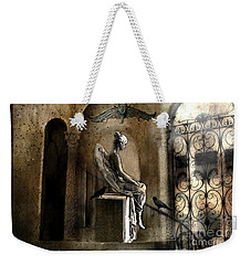Gothic Surreal Angel With Gargoyles And Ravens  Weekender Tote Bag