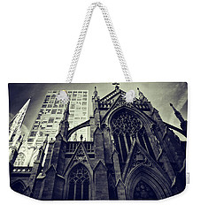 Weekender Tote Bag featuring the photograph Gothic Perspectives by Jessica Jenney