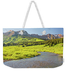 Weekender Tote Bag featuring the photograph Gothic Valley - Early Evening by Eric Glaser