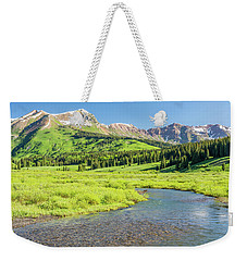 Weekender Tote Bag featuring the photograph Gothic Valley - Morning by Eric Glaser