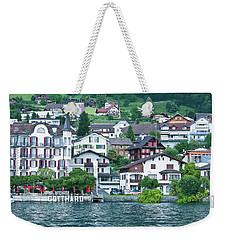 Hotel Gotthard On Lake Lucerne Weekender Tote Bag