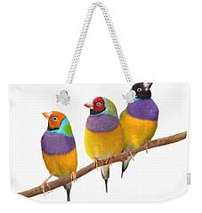 Gouldian Finches Weekender Tote Bag by Kathie Miller