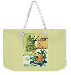 Gourmet Cover Featuring A Bowl Of Peaches Weekender Tote Bag by Henry Stahlhut