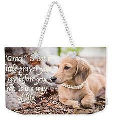 Grace- A Way Of Life Weekender Tote Bag