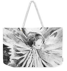 Grace In An Orchid Weekender Tote Bag by Mindy Newman