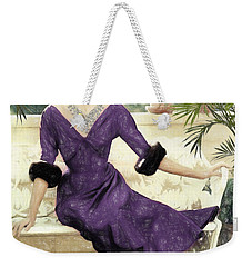 Grace Kelly Draw Weekender Tote Bag by Quim Abella