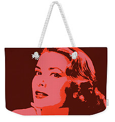 Grace Kelly Pop Art Weekender Tote Bag by Dan Sproul