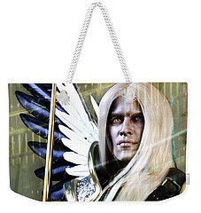 Weekender Tote Bag featuring the digital art Grace Of Light by Suzanne Silvir