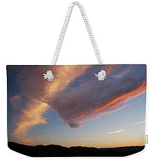 Graceful Pink Clouds Weekender Tote Bag by Katie Wing Vigil