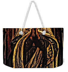 Weekender Tote Bag featuring the photograph Gracious Virgin Mary by Joan Reese