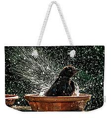 Grack Bath Flower Pot Weekender Tote Bag by Jim Moore