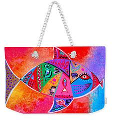 Graffiti Fish Weekender Tote Bag