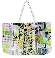 Graffiti Graphic Robot Weekender Tote Bag