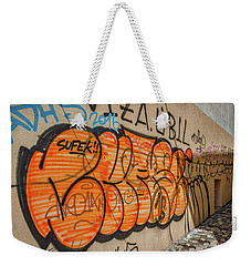 Weekender Tote Bag featuring the photograph Graffiti In The Alley #2 - Slovenia by Stuart Litoff