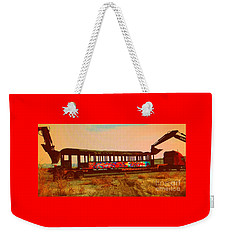 Graffiti Laden Rusted Out Saltair Train Car Scrapped February 18 2012 Weekender Tote Bag by Richard W Linford