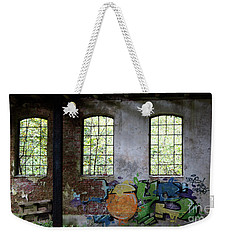 Graffiti On The Walls Of An Old Factory  Weekender Tote Bag