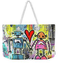 Graffiti Pop Robot Love Weekender Tote Bag