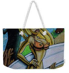 Graffiti-surfgirl_01 Weekender Tote Bag